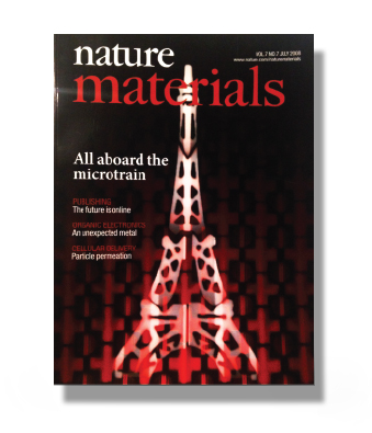 Nature materials 2008 Cover